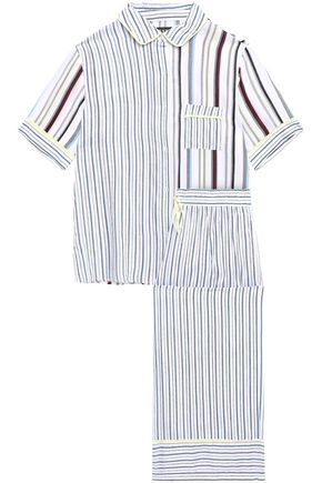 DKNY Striped woven pajama set