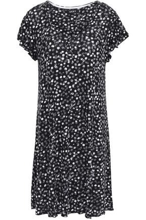 DKNY Printed stretch-jersey nightdress