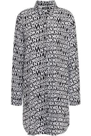 DKNY Printed mousseline nightshirt