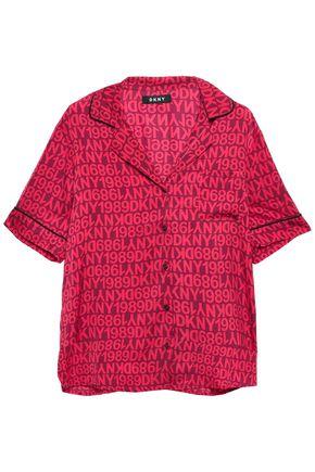 DKNY Printed crepe de chine pajama set