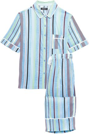 DKNY Striped mousseline pajama set