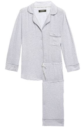 DKNY Striped stretch-jersey pajama set