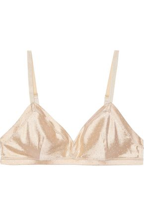 ERES Archange Swiss-dot silk-blend satin triangle bra