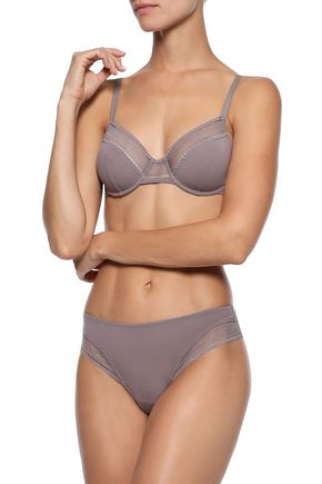 ERES Peau d'Ange Soyeuse mesh-trimmed stretch-jersey underwired soft-cup bra