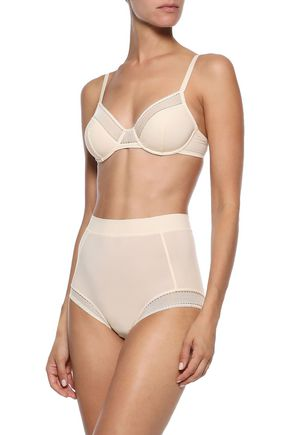 ERES Radieuse mesh-trimmed stretch-jersey high-rise briefs