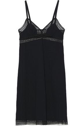 ERES Voila Leavers lace-trimmed stretch-cloqué chemise