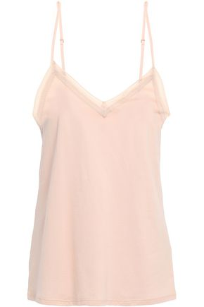 COMMANDO Lace-trimmed Pima cotton-jersey camisole
