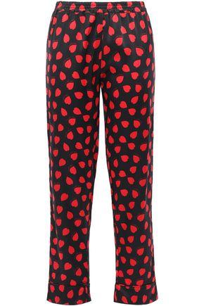 STELLA McCARTNEY Tara Tickling printed silk-blend satin pajama pants