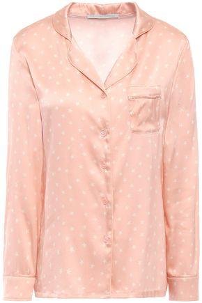 STELLA McCARTNEY Betty Twinkling printed silk-blend satin pajama top