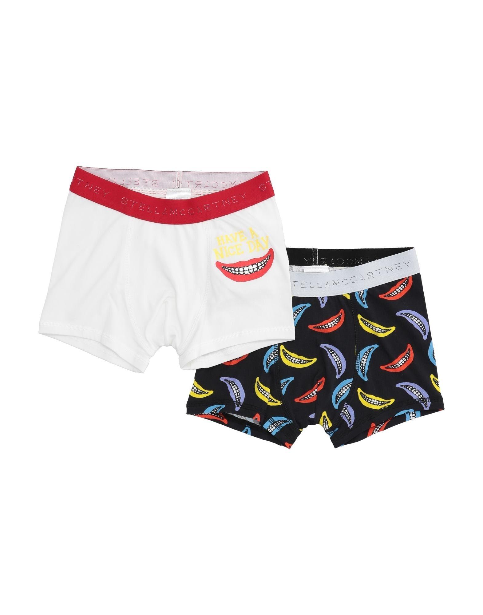 STELLA McCARTNEY KIDS Boxers. jersey, print, logo, two-tone, stretch, wash at 30degree c, do not dry clean, iron at 110degree c max, do not bleach, do not tumble dry, 2-piece set. 95% Cotton, 5% Elastane