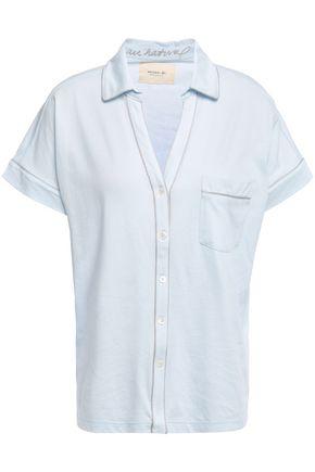 NATURAL SKIN Mélange organic cotton-jersey pajama shirt