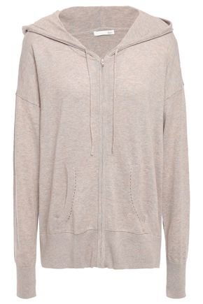 SKIN Bronwyn cotton-blend hooded pajama top