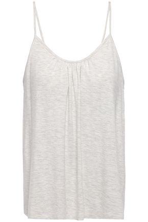 SKIN Lexie gathered mélange stretch-jersey camisole