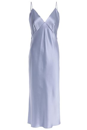 OLIVIA VON HALLE Issa silk-satin chemise