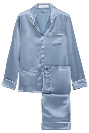 OLIVIA VON HALLE Coco silk-charmeuse pajama set