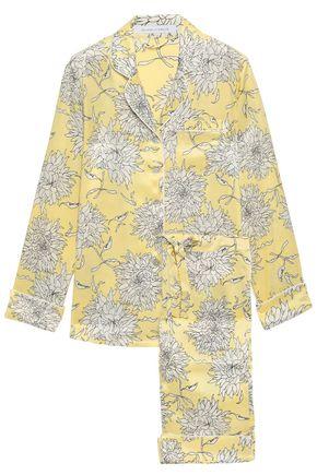 OLIVIA VON HALLE Lila floral-print silk-charmeuse pajama set