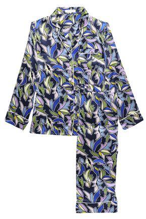 OLIVIA VON HALLE Lila Viola printed silk-satin pajama set