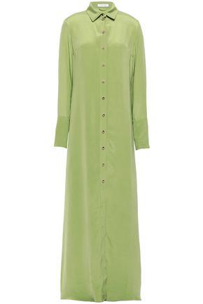 OLIVIA VON HALLE Hero washed-silk nightdress