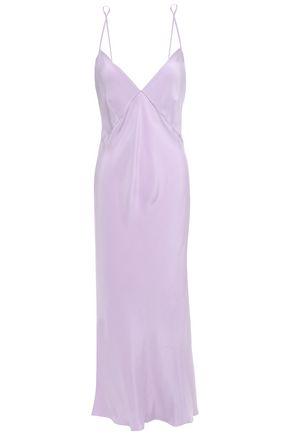 OLIVIA VON HALLE Issa open-back silk-satin nightdress