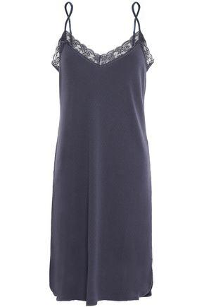 STELLA McCARTNEY Lace-trimmed cotton-jersey chemise