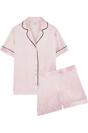 IRIS & INK Karitas silk-blend charmeuse pajama set