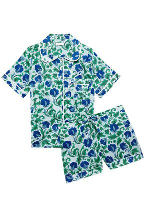 YOLKE Floral-print cotton pajama set