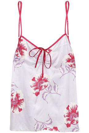 MORGAN LANE Serena bow-embellished floral-print charmeuse camisole