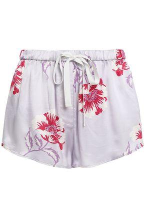 MORGAN LANE Martine floral-print charmeuse pajama shorts
