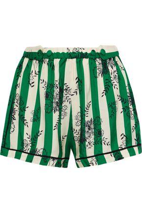 MORGAN LANE Fiona printed satin-twill pajama shorts