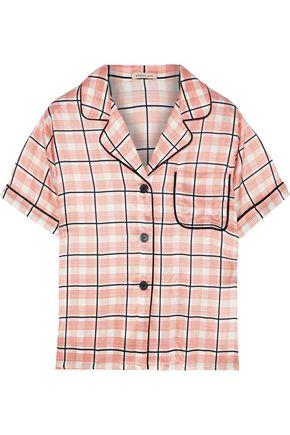 MORGAN LANE Katelyn checked satin pajama top
