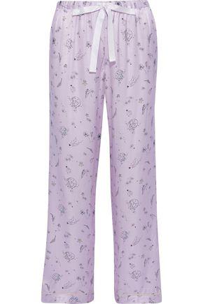MORGAN LANE Chantal printed charmeuse pajama pants