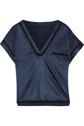 MORGAN LANE Yeva silk-blend satin pajama top