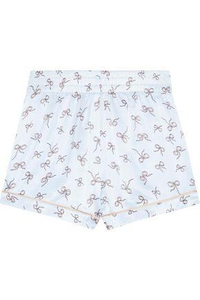 MORGAN LANE Chloe printed satin pajama shorts