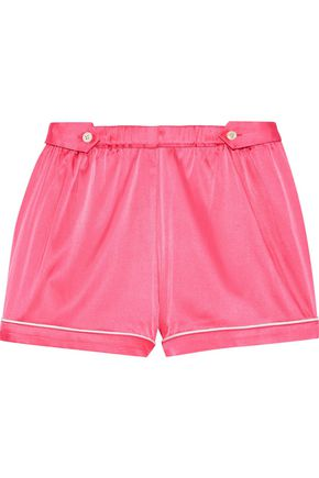 MORGAN LANE Fiona silk-blend charmeuse pajama shorts