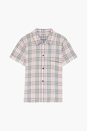 MORGAN LANE Tami checked seersucker pajama top