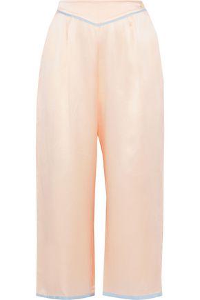MORGAN LANE Ines cropped silk-charmeuse pajama pants