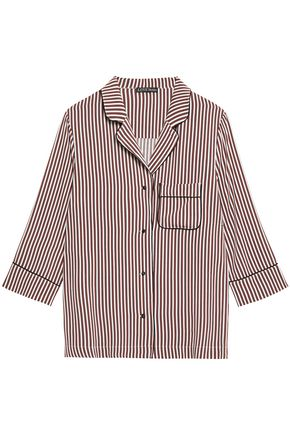 LOVE STORIES Jude embroidered striped twill pajama shirt