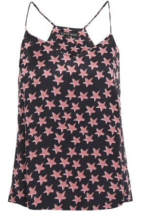 LOVE STORIES Chloe printed crepe de chine camisole