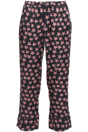 LOVE STORIES Reese printed crepe de chine pajama pants