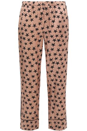 LOVE STORIES Reese printed satin-twill pajama pants