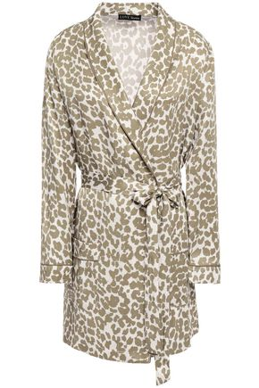 LOVE STORIES Ritz leopard-print charmeuse robe