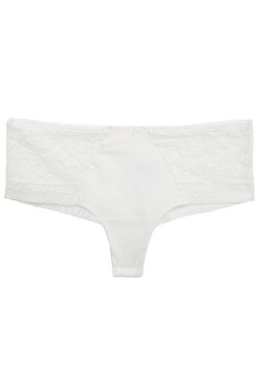 WACOAL Eternal corded lace and stretch-jersey mid-rise briefs