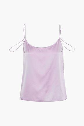 KIKI DE MONTPARNASSE Amour silk-charmeuse camisole