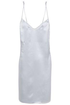 KIKI DE MONTPARNASSE Amour silk-charmeuse chemise