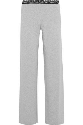 LA PERLA Soft Touch lace-trimmed stretch-jersey pajama pants