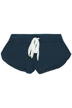 EBERJEY Mélange slub jersey pajama shorts