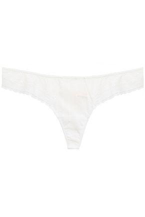 EBERJEY Amanda The Classic stretch-lace mid-rise thong