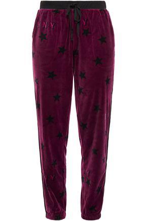 DKNY Urban Mindset printed velour pajama pants