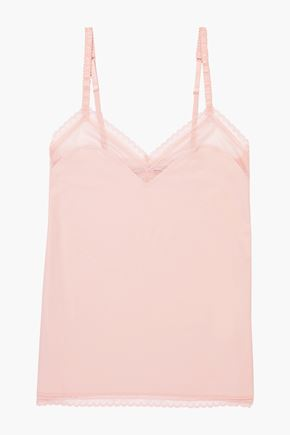 STELLA McCARTNEY Emma Loving stretch-jersey and mesh camisole