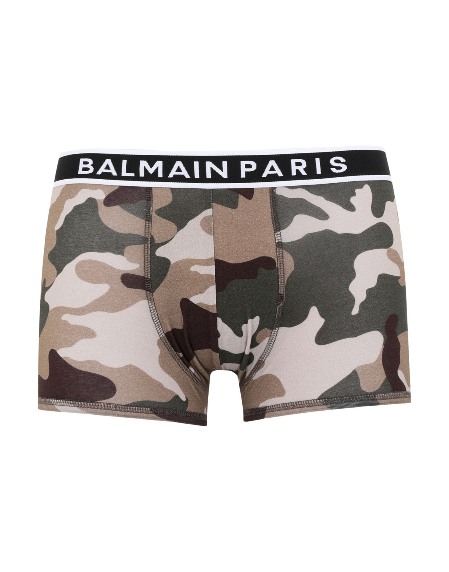 BALMAIN Boxers. jersey, logo, camouflage, elasticized waist, stretch. 90% Cotton, 10% Elastane